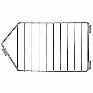 Steel Modular Stacking Basket Divider, Silver