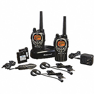 FRS/GMRS Backlit LCD Waterproof Portable Two Way Radio, Number of Channels 50