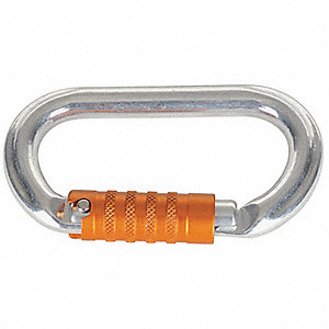 Carabiner,Aluminum,4-2/7 In,Tri-Act Lock