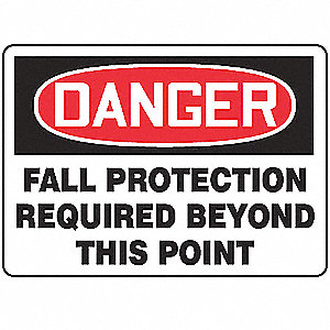 Danger Sign,10 x 14In,R and BK/WHT,AL