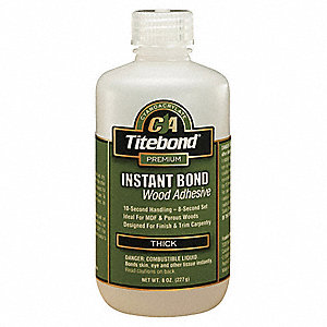 Clear 8 oz. Instant Bond Adhesive, Thick, 8 sec. Application Time