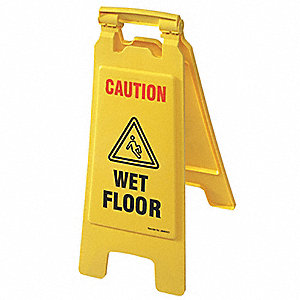 Floor Safety Sign, Caution Wet Floor,Eng