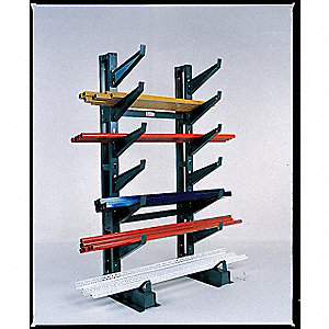 "Cantilever Rack Add-On Unit, 45"" Base Length, Number of Sides 2, Number of Arms 12"