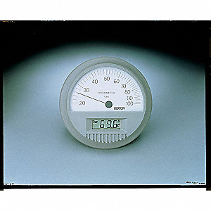 Digital/Analog Hygrometer,0 to 160 F