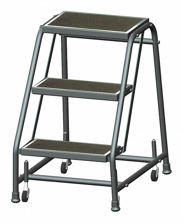 Ballymore Rolling Ladder Steel 28 1 2 In H 8nkv0 318r