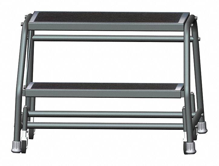 Ballymore 2 Step Rolling Ladder Abrasive Mat Step Tread