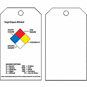 Chemical Hazard Tag, 25 PK