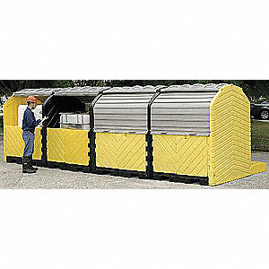 Covered Four IBC Containment Unit, 9000 lb. Load Capacity, 430 gal. Spill Capacity