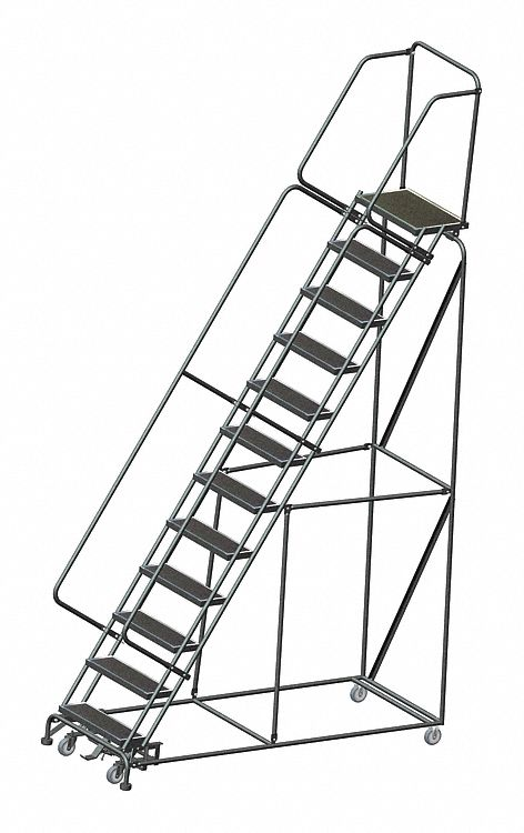 Ballymore 12 Step Rolling Ladder Abrasive Mat Step Tread