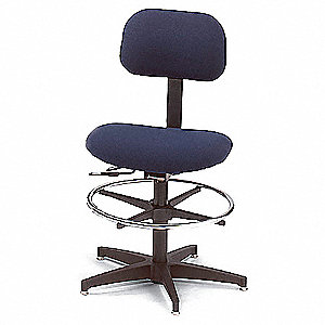 "Black Task Chair, 17 to 22"" Seat Height Range, 300 lb. Weight Capacity"