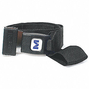 Stretcher Strap,Loop Lock End,5 ft,Blk
