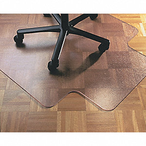 "Traditional Lip Chair Mat, Clear, For Carpet with Padding Up to 5/8"" Thick"