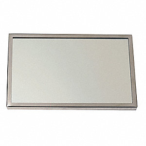 see all industries framed mirror sst glass 72x36 in