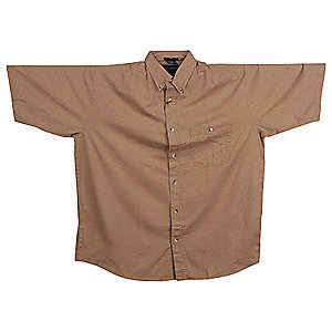 Short Sleeve Shirt,Khaki,XL