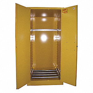 Flammable Cabinet,Vertical,55 Gal.,YLW