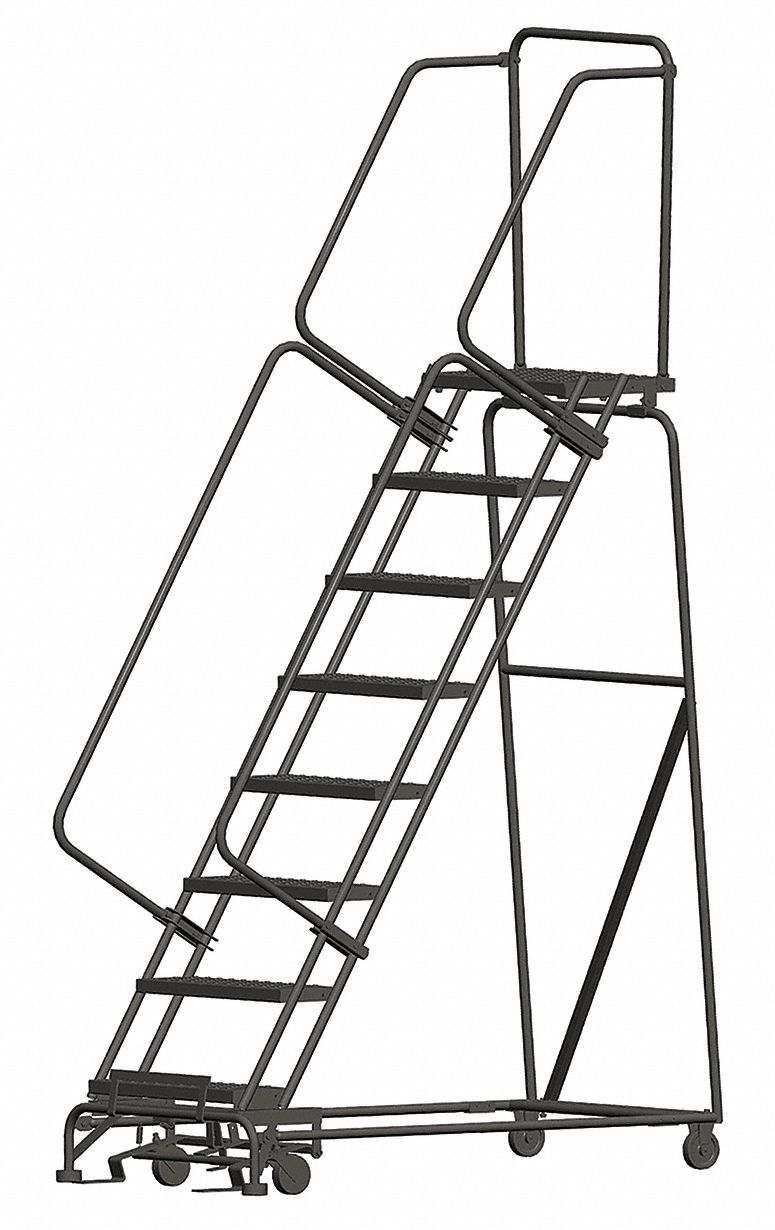 Ballymore 8 Step Rolling Ladder Perforated Step Tread