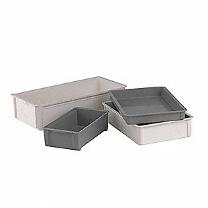 Stacking Container,8x15x33 In.,White