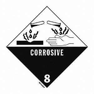 DOT Label,Corrosive,4 In. W,PK500