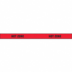 Barricade Tape,Hot Zone,1000 ft x 3 In