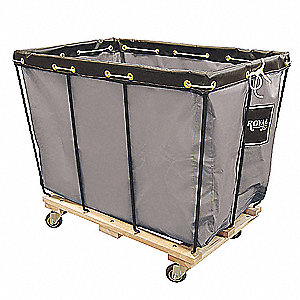 "Permanent Liner Basket Truck, 14 Bushel Capacity, 28"" Overall Width, 40"" Overall Length"