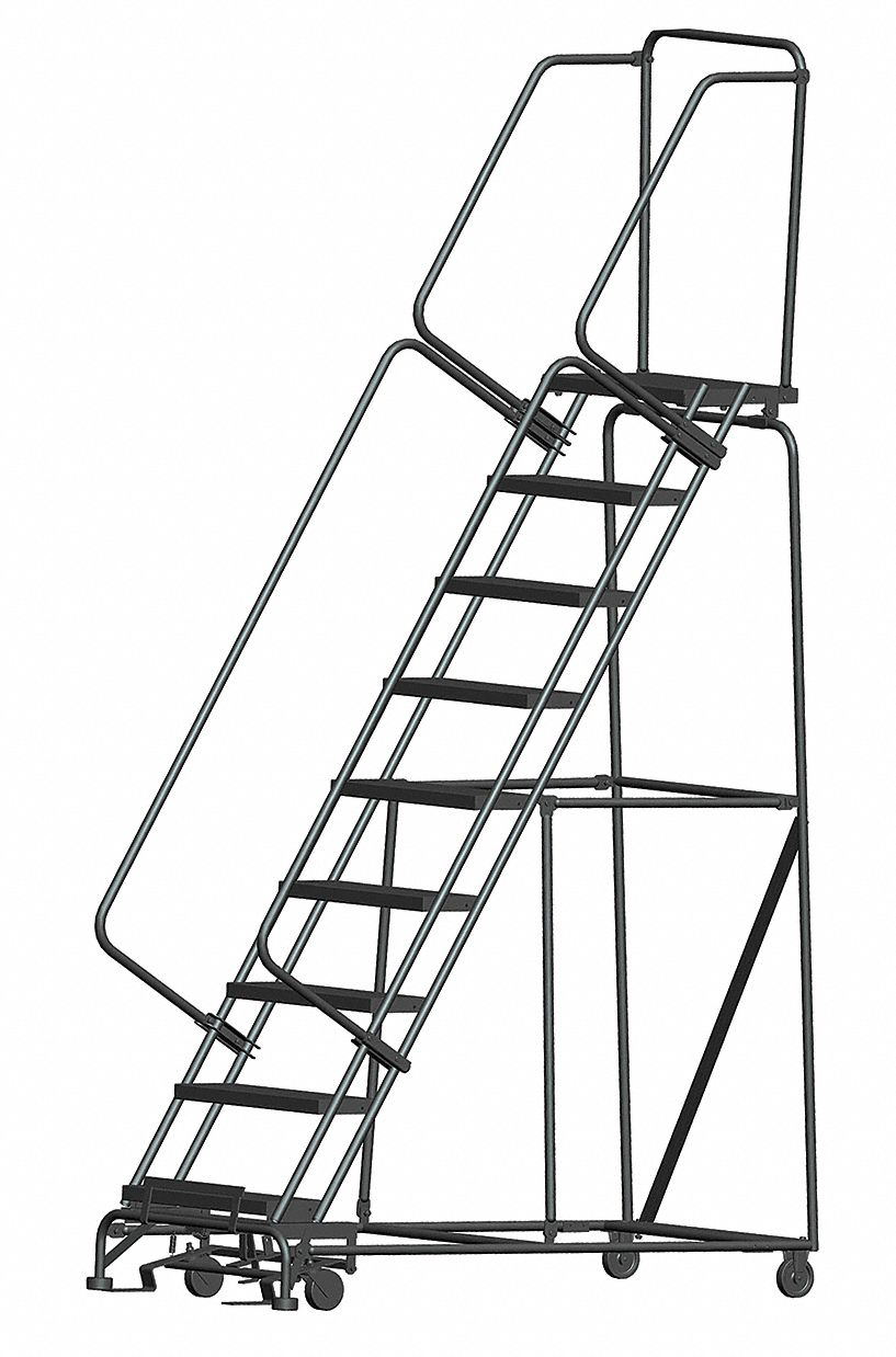 Ballymore 9 Step Rolling Ladder Expanded Metal Step Tread