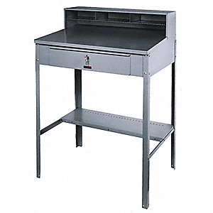 Shop Desk,51x36x25 In.,Gray