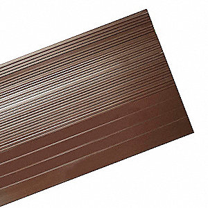 "Brown, Vinyl Stair Tread Cover, Installation Method: Adhesive, Round Edge Type, 48"" Width"