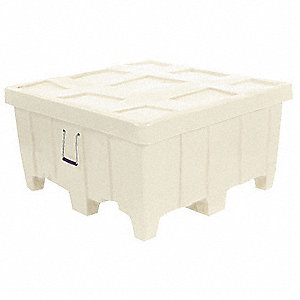Container,18 cu.-ft.,500 lbs.,White