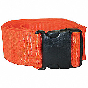 Disposable Poly Strap,9 ft,Orange