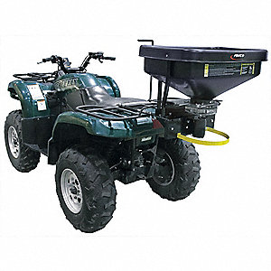 ATV Spreader, 99 lb. Capacity, 1 Hole Drop Type, Variable Speed Flow Control