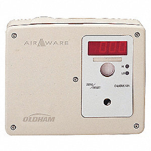"CO Fixed Gas Detector, Number of Channels 1, 125 mA @ 24VDC, Height 1-5/8"", Width 1-5/8"""