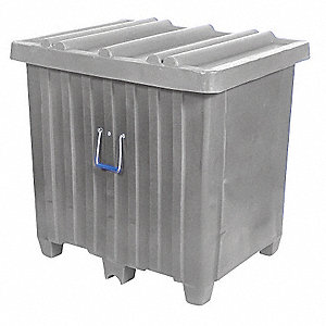 Container,23 cu. ft.,600 lb.,Gray
