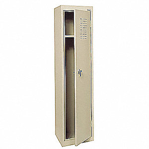 "Ventilated Wardrobe Locker, Assembled, One Tier, 15"" Overall Width"