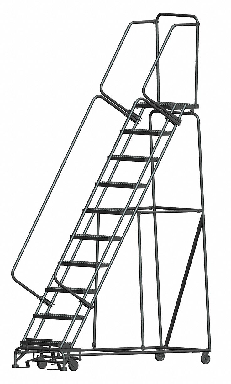 Ballymore 10 Step Rolling Ladder Serrated Step Tread 133