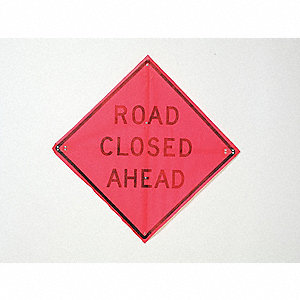 Road Sign,Road Closed Ahead,36 x 36In