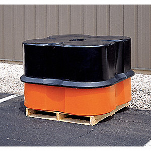 Four Drum Spill Container,Black