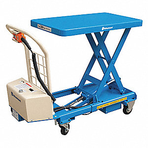 Mobile Scissors Lift Table,Powered,24VDC