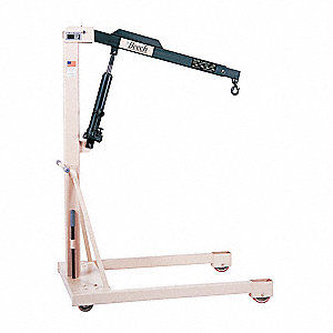 Straddle Floor Crane,1000 lb.,28 In. W