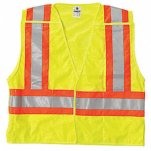 Ultra-Cool(TM) Polyester Mesh Breakaway High Visibility Vest, Class 2