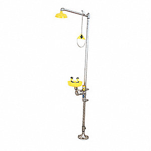 Drench Shower with Eyewash,Yellow