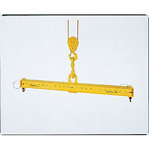 "Adjustable Lifting Beam, 10,000 lb., Max. Spread 120"", Min. Spread 60"", Headroom 22-1/4"""
