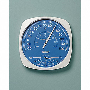 Indoor Analog Hygrometer,-22 to 122 F