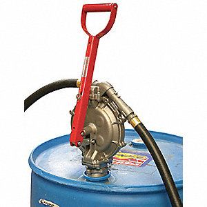 Hand Operated Drum Pump, Lever, Ounces per Stroke: 16