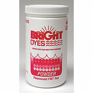 Dye Tracer Powder,Fluorescent Red,1 lb