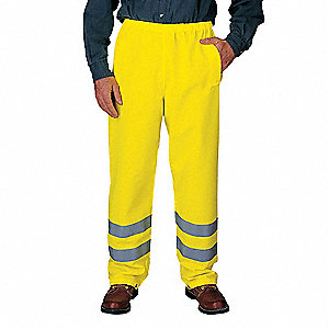 Breathable Pants,Hi Vis Yellow,Size 32