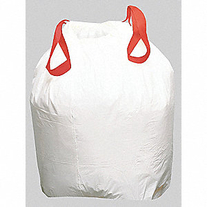 13 gal. Drawstring Trash Can Liner, White, Coreless Roll, 200 PK