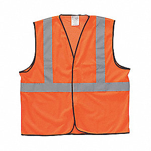 Polyester Mesh High Visibility Vest, Class 2