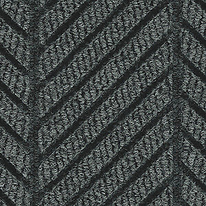 Black Smoke Recycled PET Polyester Fiber, Entrance Mat, 8 ft. Width, 12 ft. Length