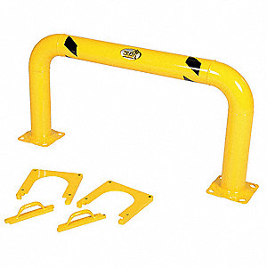 "Bollard,Removable,4-1/2"",Yellow"