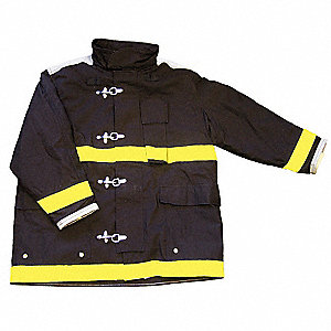 Turnout Coat,Black,3XL,Nomex IIIA